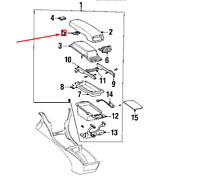 Lexus Ls XF30 Console Centrale Compartiment Housse Lock 5890850040 Neuf Original
