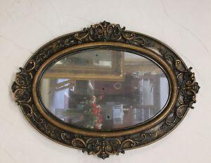 Spiegel Wandspiegel oval  antik