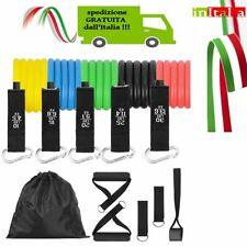 11 Kit Fasce Bande Elastiche Elastici Fitness Palestra Di Resistenza Allenamento