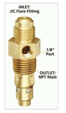 "1/2"" Flare x 1/2"" Male NPT Solid Brass Air Compressor In Tank Check Valve New"