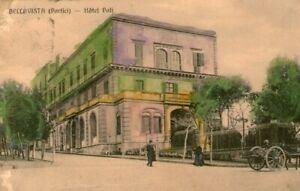 Cartolina Bellavista (Portici) - Hotel Poli viaggiata 1914