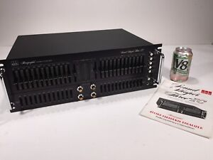 Vintage 1983 ADC Sound Shaper Three-IC SS3 Stereo Frequency Equalizer EQ +Manual