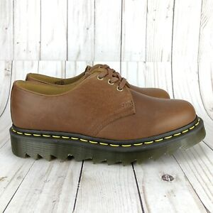 Dr Martens Ziggy Derby Oxford Shoes Tan Leather 3 Eye Womens 1461 Size 8
