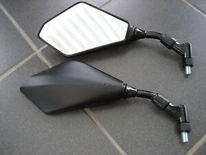 1 PAAR SPIEGEL MIRRORS BLACKLINE Honda CBF500 CBF 600  NEW  NEUWARE OVP m. TÜV