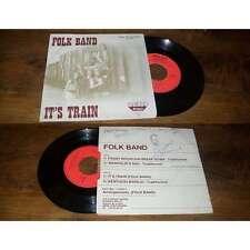 FOLK BAND - It's Train Rare French EP Private Press Folk Rock Disques Bello