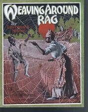 Weaving Around Rag 1913 Large Format Sheet Music