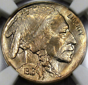 1916 Buffalo Nickel NGC MS-64... Amazing Coin with Lots of Eye Appeal! SO NICE!!