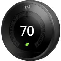 Nest 3rd Generation Learning Matt Black Programmable Thermostat: NO BASE