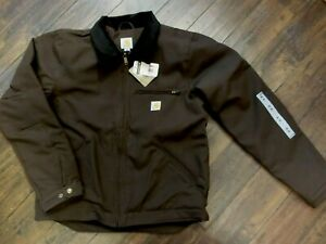 Carhartt 103828 Washed Duck Detroit Jacket Dark Brown