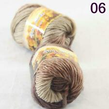 Sale Lot of 2 Skeins New Knitting Yarn Chunky Colorful Hand Wool Wrap Scarves 06