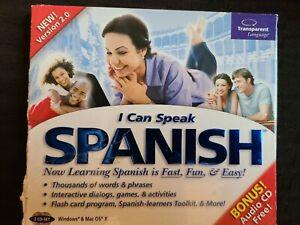 I Can Speak Spanish Version 2 Transparent Language Learning CD Windows MAC OS X