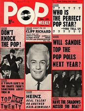 Pop Weekly Magazine 13 March 1965    Cliff Richard    Sandie Shaw    The Animals