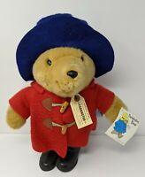 """Eden Paddington Bear Plush Red Jacket Coat Hat Black Rain Boots Tags 16"""" Tall"""