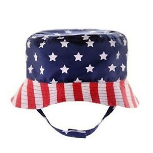 Stars & Stripes Bucket Hat ~ Size 2-4T ~ Memorial Day 4th of July ~New With Tags