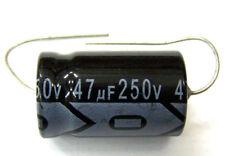 QTY 13 New MIEC 47UF 250V 105C Axial Electrolytic Capacitors