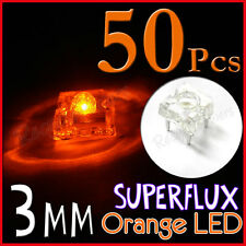 50 3mm Superflux Piranha Orange LED 12000mcd Super flux