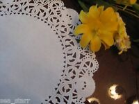 "8"" inch WHITE PAPER FILIGREE STAR LACE DOILIES 25 PCS USA ROUND WEDDINGS CRAFTS"