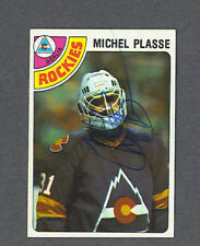 Michel Plasse signed Rockies 1978-79 Topps hockey card