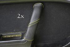 Se adapta a Mazda Rx7 fc3s 2x Manija De Puerta cubre Amarillo Stitch