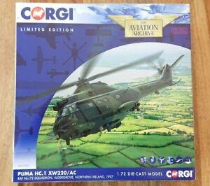 Corgi AA27005 Puma HC.1 XW220/AC RAF No.72 Sqn Aldergrove NI Ltd Edition of 1000