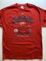 VINTAGE 2007 WORLD SERIES BOSTON RED SOX CHAMPIONS BASEBALL Majestic T-Shirt L