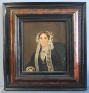 Altes Gemälde, Portrait einer Dame in Tracht, Biedermeier, wohl um 1850