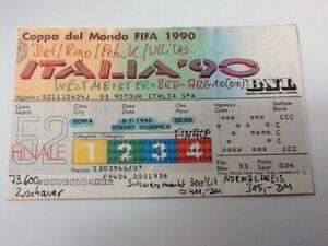 Ticket WM WC Italien 1990 FINALE Deutschland - Argentinien in ROM 8.7.1990