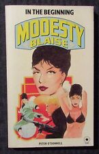 1978 MODESTY BLAISE In The Beginning Peter O'Donnell FVF 7.0 1st UK Paperback
