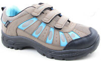Ladies Womens Walking Shoes Touch Fastening Mountain Peak Hiking Trainers Boots