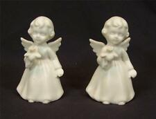 Schmid Bros Brothers White Bisque Porcelain Angel Figurines Japan
