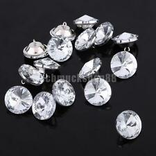 50pcs Crystal Satellite Buttons for Sewing Craft Sofa Upholstery Crafts 20mm