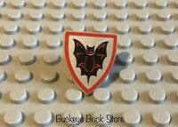 LEGO Castle Knight Minifig Shield Black Bat on Silver Background 6031 6097 6047
