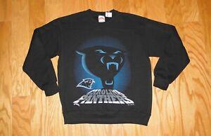 Carolina Panthers Nutmeg Sweatshirt NWT Size M Black Vintage 1993 JC Penny 90's