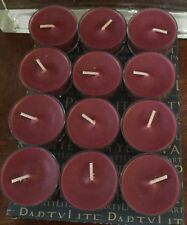 PARTYLITE 1 DOZEN MULBERRY TEALIGHTS brand new SUPPLY 30% DISCOUNT