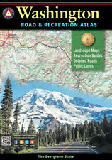 National Geographic Benchmark Washington Road & Recreation Atlas Map BE0BENWAAT