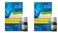 Pack of 2 Mommy's Bliss Vitamin D Organic Drops .11 fl oz, Newborns+ EXP 7/2020