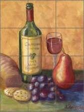 Wine Tile Backsplash Margosian Art Ceramic Kitchen Mural JM060