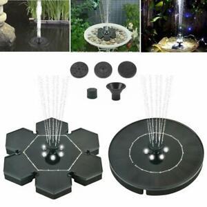 LED Light Solar Power Floating Fountain Bird Bath Water Pump Garden Pond Pool