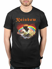 Official Rainbow Rising Graphic T-Shirt English Rock Band Ritchie Blackmore