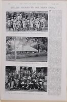 1896 Boero Guerra Era British Truppe IN Sud India Nessun 3 Campo Batteria Native