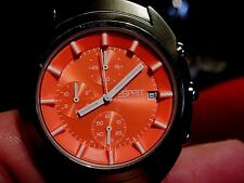 Esprit rare quality sport chrono watch for men's Orange Strench mint tags  41mm