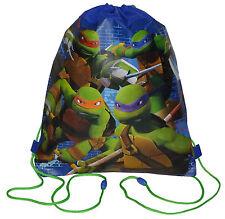 Sling Bag Tote Drawstring Non-Woven TMNT Teenage Mutant Ninja Turtles Green NEW