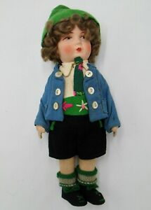 Beautiful Vintage Cloth Bing Doll in Tyrol Costume