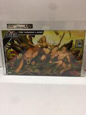 Marvel Legends 2008 SDCC X-Men Savage Land Ka-Zar, Shanna, Zabu Set AFA 9.5 New