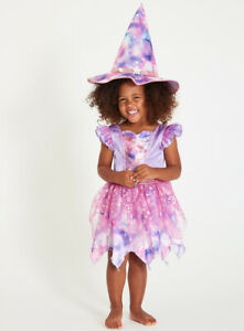 Halloween Purple Wicked Witch Toddlers Fancy Dress Dressing up Costume H19