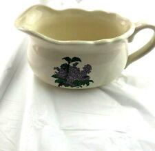 Ceramic Gravy Boat With Purple Flowers Tableware