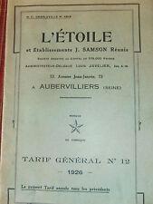 catalogue l'étoile outillages -  1926 ( ref 20)