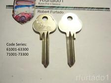Key Blank for Volvo ignition up to 1965 - Saab 1963 to 1967  (see Apps. & Codes)