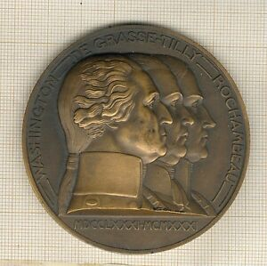 Great Medal Capitulation Of Yorktown, By Turin, Washington, Oily Tilly
