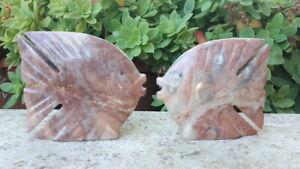 soprammobile etnico PESCE ONICE handmade fatto a mano CRISTALLO naturale pietra